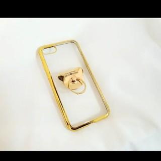 送料無料 iPhoneケース!くまリング プレセント 人気 可愛い 6457