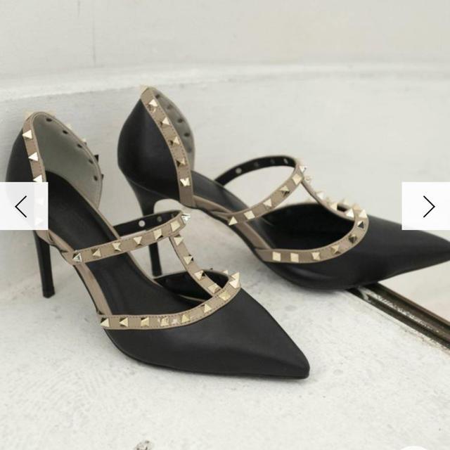 RESEXXY(リゼクシー)のRESEXXY スタッズピンヒールパンプス   レディースの靴/シューズ(ハイヒール/パンプス)の商品写真