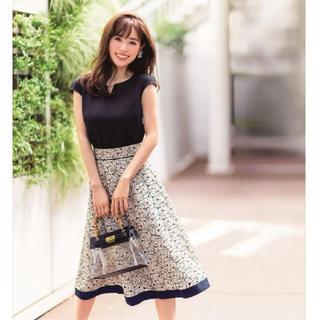 Apuweiser-riche - 美品🌸カットワーク刺繍スカートSET【ブラック】