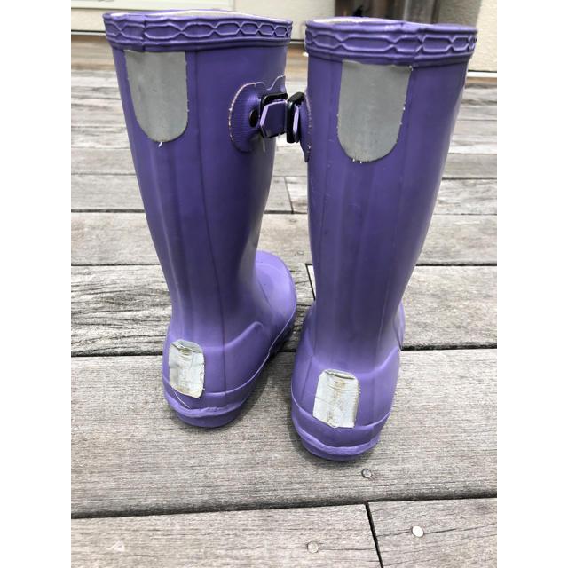 HUNTER(ハンター)のハンター 長靴 レインブーツ キッズ UK10 キッズ/ベビー/マタニティのキッズ靴/シューズ(15cm~)(長靴/レインシューズ)の商品写真