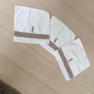 サンローラン(Saint Laurent)の新品未使用 イヴ・サンローラン ハンカチタオル 3枚セット(ハンカチ/ポケットチーフ)