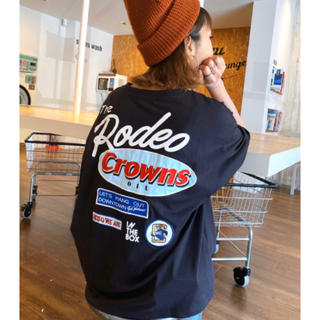 RODEO CROWNS WIDE BOWL - ロデオ★Mix big VネックTシャツ