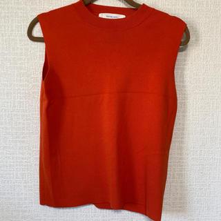 ルシェルブルー(LE CIEL BLEU)のルシェルブルー オレンジ トップス(カットソー(半袖/袖なし))