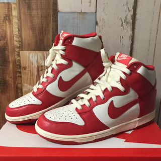 NIKE - DUNK HIGH COLLEGE PACK SAIL RED 28センチ