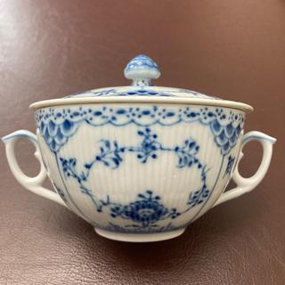 ロイヤルコペンハーゲン(ROYAL COPENHAGEN)のロイヤルコペンハーゲン ブルーフルーテッド プレイン スープカップ  (食器)