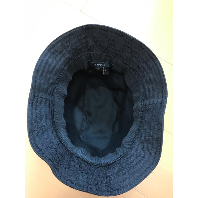 Gucci(グッチ)のGUCCI グッチ GG柄 バケットハット 黒 M メンズの帽子(ハット)の商品写真