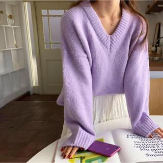 dholic - 【新品】カラーニット 未使用 レディース トップス 春色 韓国ファッション