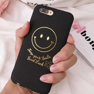 大人気 iPhone6 iPhone6s スマイル柄 ニコちゃん 金文字 ケース