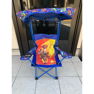 ディズニー(Disney)の最安値 新品 ディズニー トイストーリー 折りたたみ椅子屋根付き キャンプチェア(その他)
