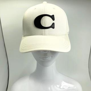 コーチ(COACH)のCOACH コーチ VARSITY CAP キャップ 帽子 F75703 白系(キャップ)
