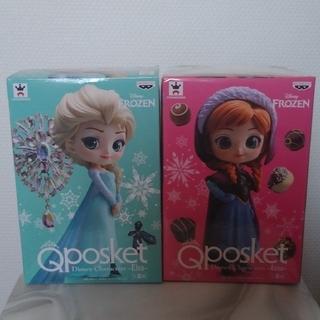 アナと雪の女王 - 新品 Qposket  ディズニー アナと雪の女王フィギュア アナ&エルサ
