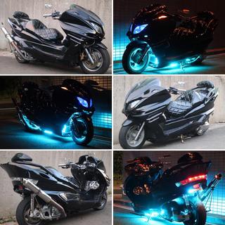 ヤマハ - 【YAMAHA マジェスティ】ブラック フルカスタム  外装、エアロ新品 LED