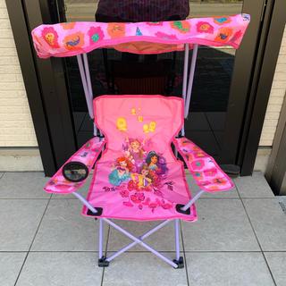 ディズニー(Disney)の新品 ディズニー プリンセス柄 折りたたみ椅子屋根付き キャンプチェア(テーブル/チェア)