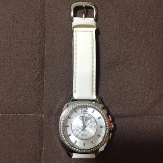 コーチ(COACH)のCOACH 腕時計 レディース 白ベルト(腕時計)