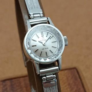オメガ(OMEGA)の【オーバーホール済み】オメガ レディース カットガラス 大きめブレス付き 美品(腕時計)