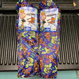 ディズニー(Disney)の2脚セット新品 ディズニー トイストーリー 折りたたみ椅子屋根付きキャンプチェア(テーブル/チェア)