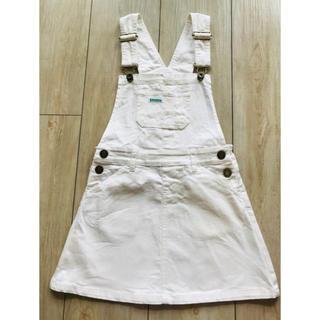ランドリー(LAUNDRY)のLAUNDRY 120 白 ジャンパースカート サロペット オーバーオール (ワンピース)