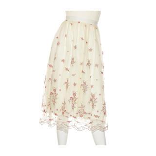 Lily Brown - レトロフラワーレーススカート