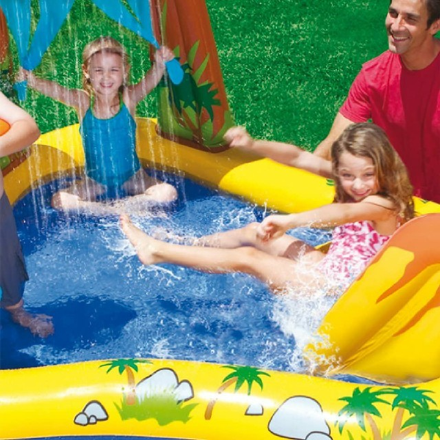 INDEX(インデックス)のINTEX ( インテックス ) ダイナソアプレーセンター プール すべり台 スポーツ/アウトドアのスポーツ/アウトドア その他(マリン/スイミング)の商品写真