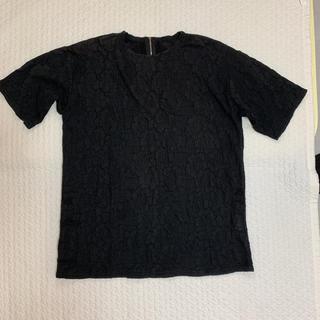 ユナイテッドアローズ(UNITED ARROWS)のシャツ ワンピース 花柄 ブラック(シャツ/ブラウス(半袖/袖なし))