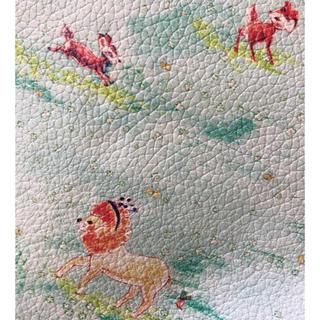 franche lippee - 【美品☆牛革】フランシュリッペ 草原のライオン がま口バッグ