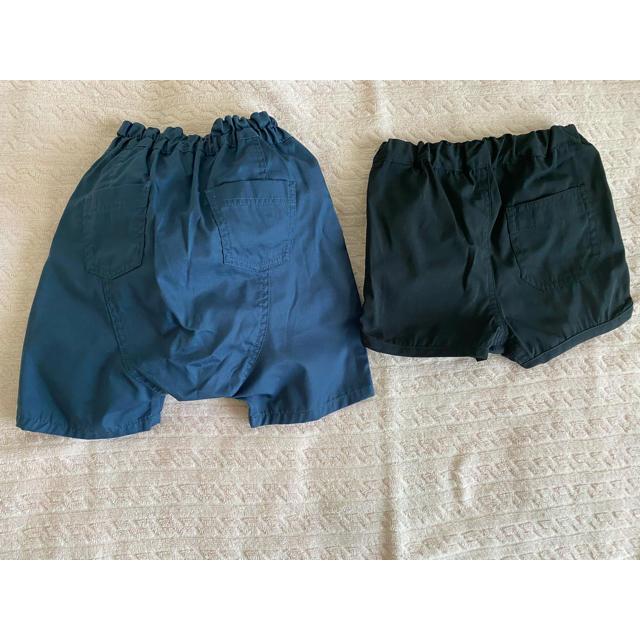 MUJI (無印良品)(ムジルシリョウヒン)の短パンとハーフパンツ 2枚 無印良品 キッズ/ベビー/マタニティのベビー服(~85cm)(パンツ)の商品写真