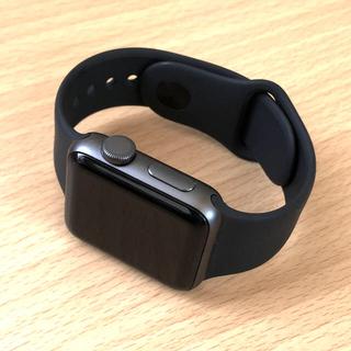 アップル(Apple)の【ほぼ新品】Apple Watch series 3 GPS【ブラック】本体一式(その他)