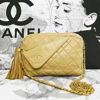 CHANEL - 美品✨シャネル 正規品 マトラッセ フリンジ チェーン ショルダー バッグ