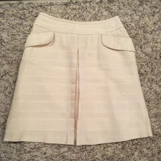 エヌナチュラルビューティーベーシック(N.Natural beauty basic)の[送料無料] 白 スカート 上品(ひざ丈スカート)