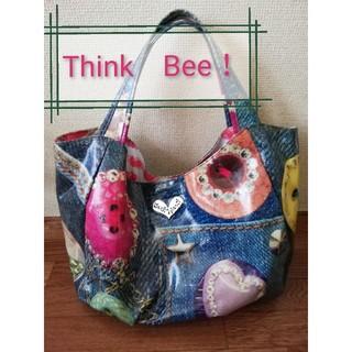 シンクビー(Think Bee!)の*summer sale* Think  Bee! デニム柄ショルダーバッグ(ショルダーバッグ)