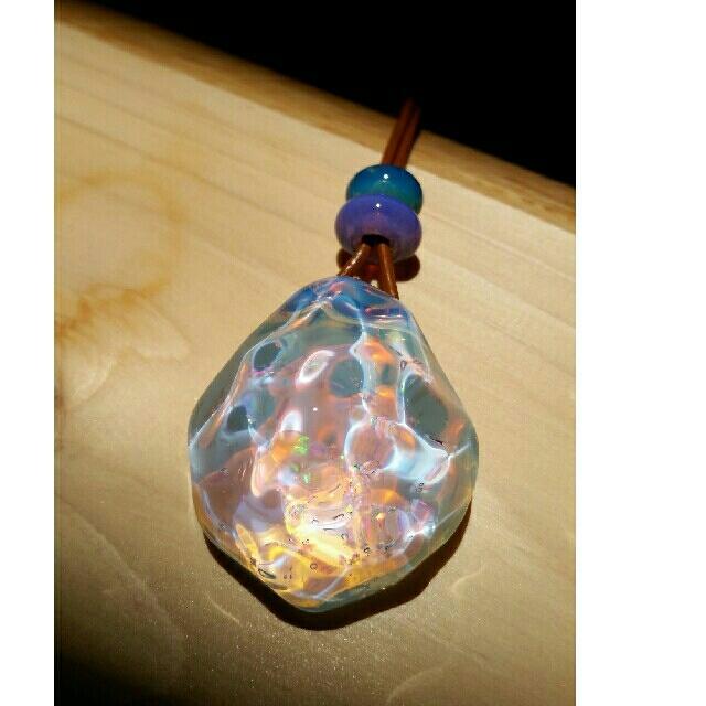 【Northern Lights】MIZUネックレス特大&クラッシュオパール ハンドメイドのアクセサリー(ネックレス)の商品写真