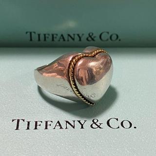 Tiffany & Co. - 美品!【ティファニー コンビ ハート リング 750×925   9号】