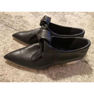 ジルサンダー(Jil Sander)のジルサンダーJILSANDERリボンレザーシューズ3926新品(ローファー/革靴)