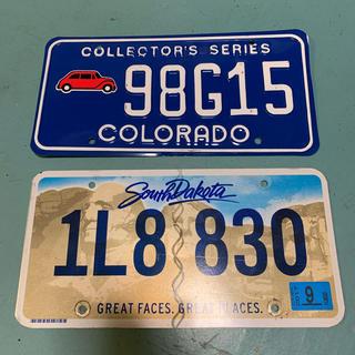 アメリカ直輸入ナンバープレート ライセンスプレート 2枚セット カリフォルニア(車外アクセサリ)