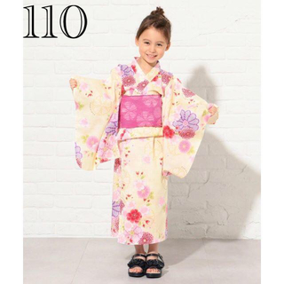 kumikyoku(組曲) - 新品 組曲 浴衣 セパレートタイプ 花柄 黄色 サイズS 100-110