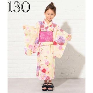 kumikyoku(組曲) - 新品 組曲 浴衣 セパレートタイプ 花柄 黄色 サイズL 120-130
