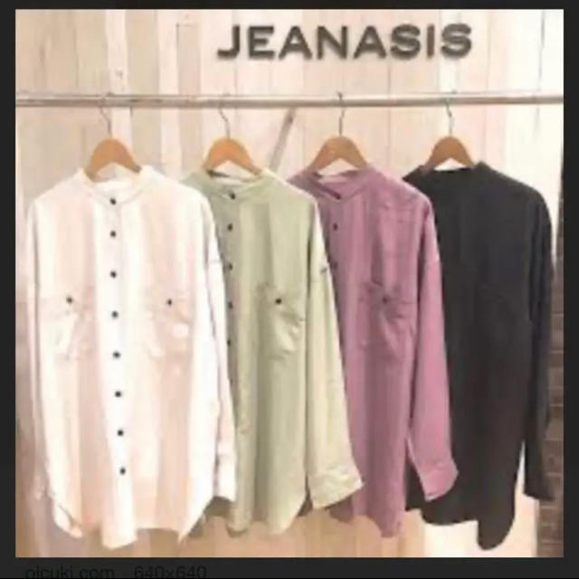 JEANASIS(ジーナシス)の【JEANASIS】美品 テンセルツイルバンドカラーシャツ レディースのトップス(シャツ/ブラウス(長袖/七分))の商品写真