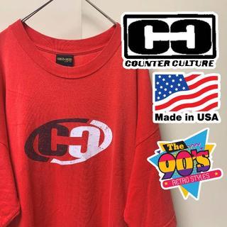 カウンターカルチャー(Counter Culture)の90s スケーター系ブランド カウンターカルチャー Tシャツ XL (Tシャツ/カットソー(半袖/袖なし))