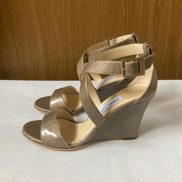 JIMMY CHOO(ジミーチュウ)の美品 ジミーチュウ サンダル レディースの靴/シューズ(サンダル)の商品写真