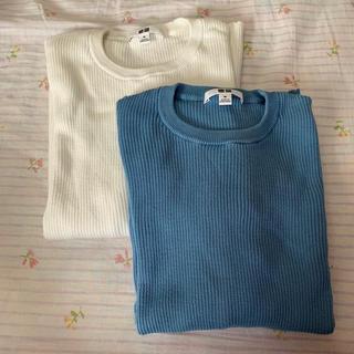 UNIQLO - UNIQLO リブクルーネックセーター