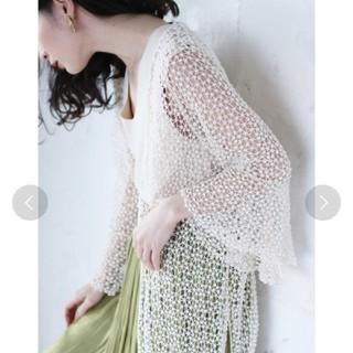 cawaii - (美品)cawaii 総サマーレースのロングカーディガン 羽織物アイボリー