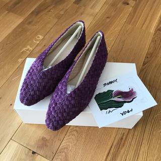 トゥデイフル(TODAYFUL)の値下げ♢todayful Velour Braid Flatshoes 36 (バレエシューズ)