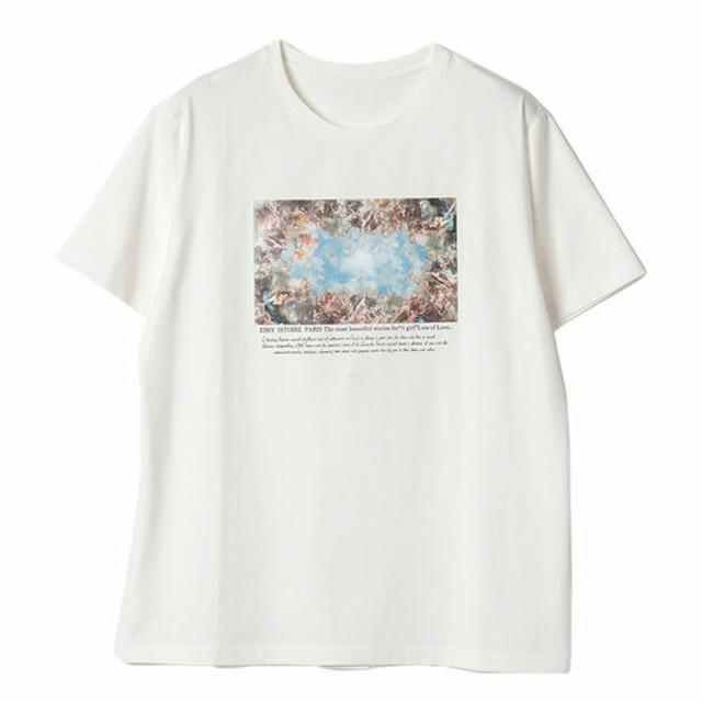 eimy istoire(エイミーイストワール)のeimy istoire Michelangelo art プリントTシャツ レディースのトップス(Tシャツ(半袖/袖なし))の商品写真