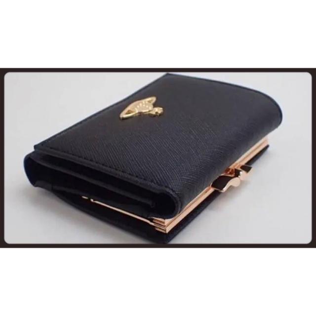 Vivienne Westwood(ヴィヴィアンウエストウッド)の【新品未使用、正規品!】 ヴィヴィアンウエストウッド 三つ折り財布 黒 ミニ財布 レディースのファッション小物(財布)の商品写真