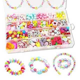 DIYビーズ おもちゃ 女の子 24種類 アクセサリー ハンドメイド ラブリービ