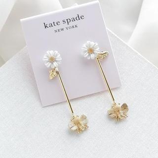 kate spade new york - 【数量限定SALE¨̮♡︎】ケイトスペード デイジーxミツバチ ピアス