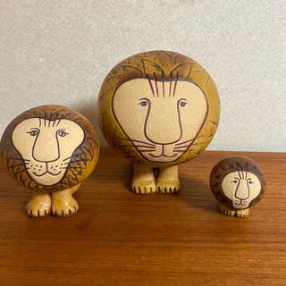 Lisa Larson - リサラーソン ライオン置物 3体セット