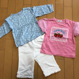 ベベ(BeBe)のbebe 女児Tシャツ&パンツ 90cm(Tシャツ/カットソー)