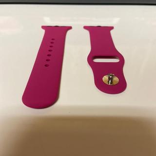 アップルウォッチ(Apple Watch)のラバーベルト:Apple Watch(38‐40㎜、赤紫)(腕時計)