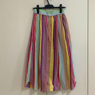 BEAMS BOY - BEAMS BOY マルチ ストライプ シャツ スカート
